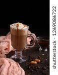cappuccino with chocolate and... | Shutterstock . vector #1269086722