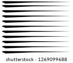 speed lines.horizontal fast...   Shutterstock . vector #1269099688