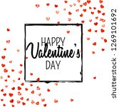 valentines day card with red... | Shutterstock .eps vector #1269101692