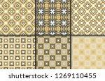 set of retro seamless pattern.... | Shutterstock .eps vector #1269110455