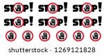 stop inedible 3  6  12  16  18  ... | Shutterstock .eps vector #1269121828