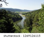 The Doubs river (Jura) from the top of the waterfall