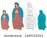 our lady of guadalupe and... | Shutterstock .eps vector #1269151012