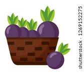 wicker basket with fresh beet   Shutterstock .eps vector #1269152275