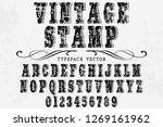 vintage typeface font... | Shutterstock .eps vector #1269161962