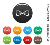 modern bow tie icons set 9...
