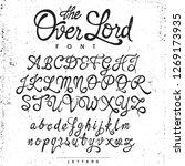 handwritten calligraphy  the... | Shutterstock .eps vector #1269173935