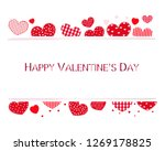 valentine hearts and happy... | Shutterstock .eps vector #1269178825