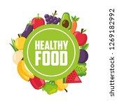 healthy food fresh | Shutterstock .eps vector #1269182992