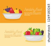 healthy food fresh | Shutterstock .eps vector #1269183265
