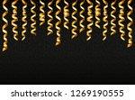 christmas gold serpentine...   Shutterstock . vector #1269190555