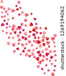 red flying hearts bright love... | Shutterstock .eps vector #1269194062