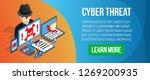 cyber threat concept banner.... | Shutterstock . vector #1269200935