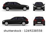 realistic car. hatchback. front ... | Shutterstock .eps vector #1269238558
