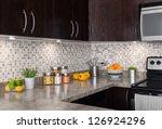 modern kitchen with cozy... | Shutterstock . vector #126924296