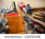 working tools background. | Shutterstock . vector #126924338