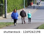 scandinavian nordic walking. a...   Shutterstock . vector #1269262198
