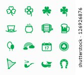 "saint patrick""s day icons with... 