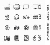 computer icons and and computer ... | Shutterstock .eps vector #126927056