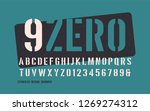 stenciled bold weight... | Shutterstock .eps vector #1269274312