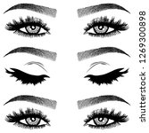 illustration with woman's eyes  ... | Shutterstock .eps vector #1269300898