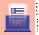 job agency  summary  search | Shutterstock . vector #1269316012