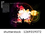 crowd with raised hands at...   Shutterstock .eps vector #1269319372