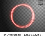 abstract red wavy line of light ... | Shutterstock .eps vector #1269322258
