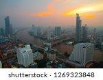 bangkok dark twilight cityscape ...   Shutterstock . vector #1269323848