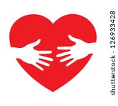 heart icon with caring hands... | Shutterstock . vector #126933428