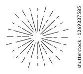 sunburst ornament   element... | Shutterstock .eps vector #1269337585