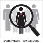 people search   vector... | Shutterstock .eps vector #1269339082
