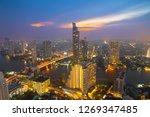 aerial view bangkok metropolis...   Shutterstock . vector #1269347485