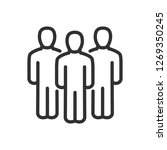 group of people. linear icon.... | Shutterstock .eps vector #1269350245