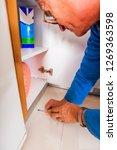 old age handyman in working... | Shutterstock . vector #1269363598