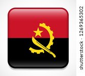 flag of angola. square glossy... | Shutterstock .eps vector #1269365302