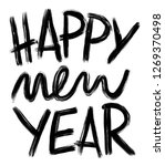 happy new year  hand drawn... | Shutterstock .eps vector #1269370498