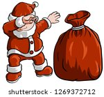 dabbing santa with gifts | Shutterstock .eps vector #1269372712