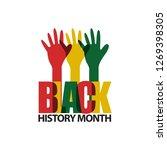 black history month vector... | Shutterstock .eps vector #1269398305
