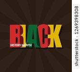 black history month vector... | Shutterstock .eps vector #1269398308