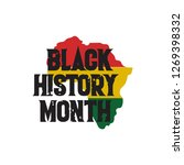 black history month vector... | Shutterstock .eps vector #1269398332
