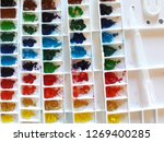 color tray  poster color ... | Shutterstock . vector #1269400285
