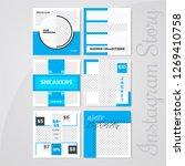 editable modern social media... | Shutterstock .eps vector #1269410758