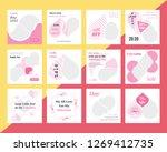 12 slides unique editable... | Shutterstock .eps vector #1269412735