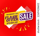 flash offer sale banner flat... | Shutterstock .eps vector #1269428602