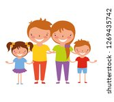 family characters cartoon | Shutterstock .eps vector #1269435742