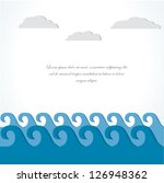 sea and cloud. vector ... | Shutterstock .eps vector #126948362