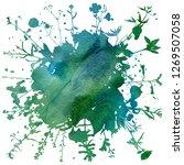 watercoolor green background... | Shutterstock . vector #1269507058