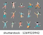 set with people in different... | Shutterstock . vector #1269523942