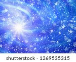 dreamy snowfall and stars... | Shutterstock . vector #1269535315